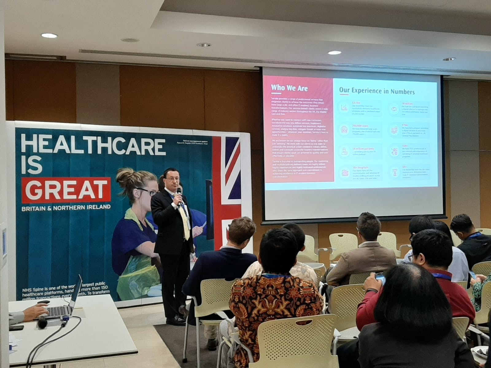 Presenting at the Department of International Trade (DIT) Asia Digital Health Mission